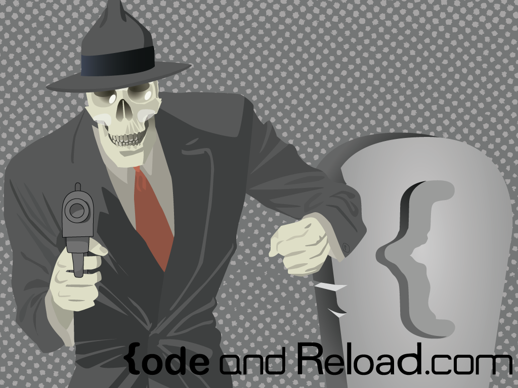Custom Wallpaper of a skeleton mob boss.